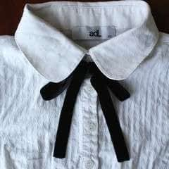 Diy Bow Tie Collar Blouse