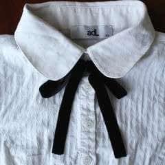 Diy Bow Tie Collar Blouse