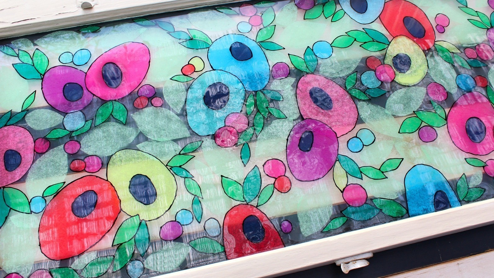 Tissue Paper Stained Glass 183 How To Make A Decoration