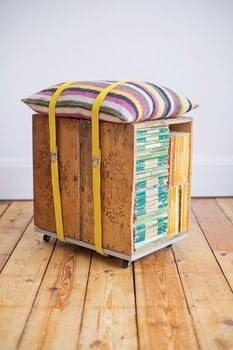 Take a Seat .  Free tutorial with pictures on how to make a stool in 15 steps by woodworking and crocheting with wooden crates, measuring tape, and scissors. How To posted by GMC Group.  in the Home + DIY section Difficulty: 3/5. Cost: 3/5.