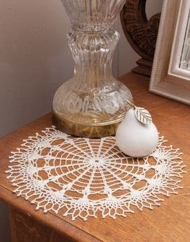 One Day Doilies .  Free tutorial with pictures on how to make a doily in 2 steps by crocheting with crochet cotton, crochet hook, and starch. How To posted by Search Press.  in the Yarncraft section Difficulty: 3/5. Cost: Cheap.