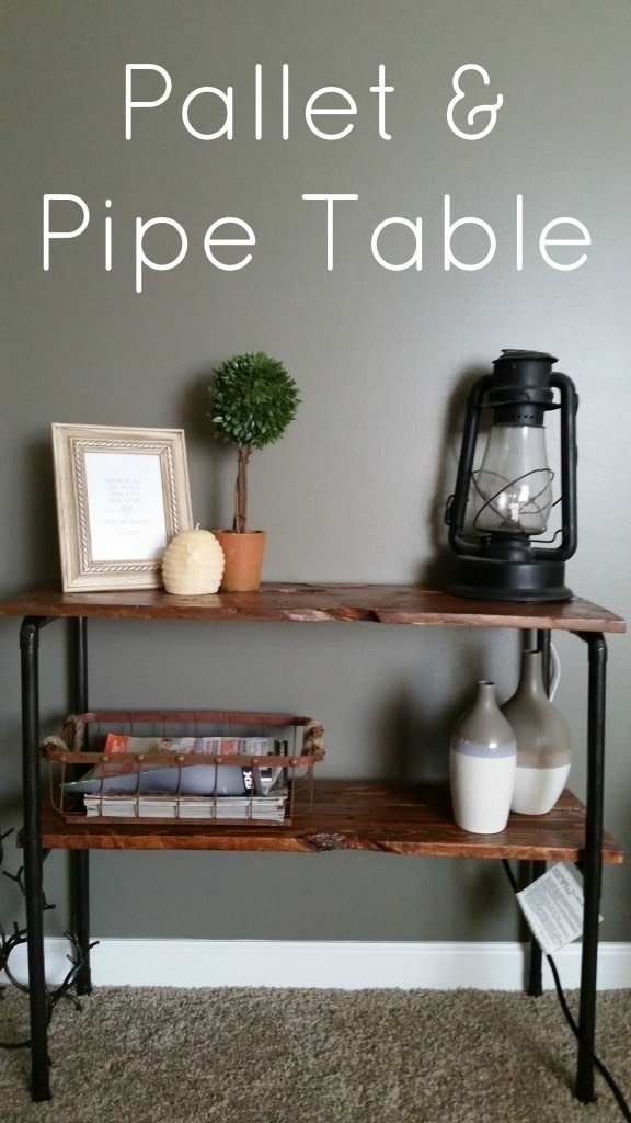 Rustic Pallet And Pipe Side Table 183 How To Make A Pallet