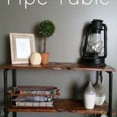 Rustic Pallet And Pipe Side Table