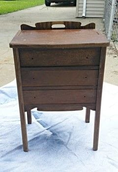 Chalk Paint Antique Cabinet Makeover Save .  Free tutorial with pictures on how to make a drawer / dresser in under 120 minutes using chalk paint, wax, and knobs. How To posted by Kristina B.  in the Home + DIY section Difficulty: Easy. Cost: Cheap. Steps: 3