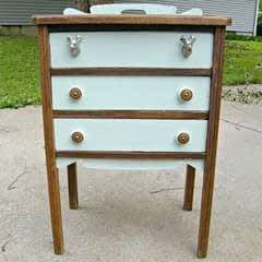 Chalk Paint Antique Cabinet Makeover