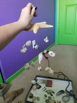 Sea shell mobile  .  Make a shell mobile in under 120 minutes by creating, decorating, and woodworking Creation posted by Doom Kitty.  in the Other section Difficulty: 3/5. Cost: No cost.