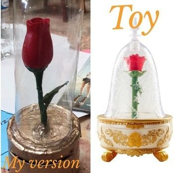 Inspired by beauty and the beast 2017 merchandise  .  Make a jewelry box in under 45 minutes by creating, constructing, decorating, embellishing, wireworking, and  with cardboard, masking tape, and plastic bottle. Inspired by disney, beauty and the beast, and roses. Creation posted by Kinhime Dragon.  in the Decorating section Difficulty: Easy. Cost: No cost.