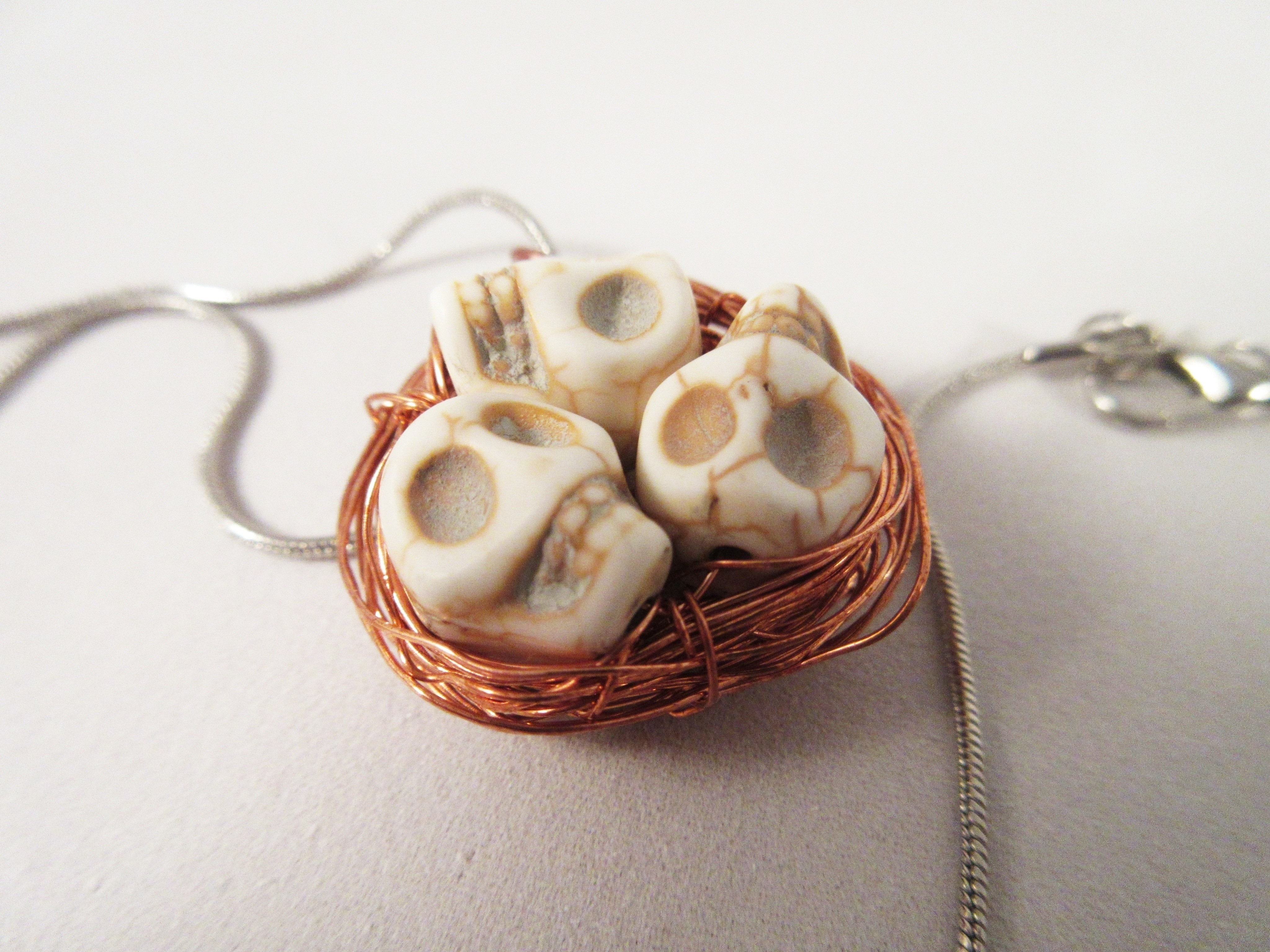 Skull birds nest pendant a skull pendant jewelry on cut out keep skull birds nest pendant next prev skull beads with copper wire make a skull pendant in under 30 minutes by wireworking aloadofball Choice Image
