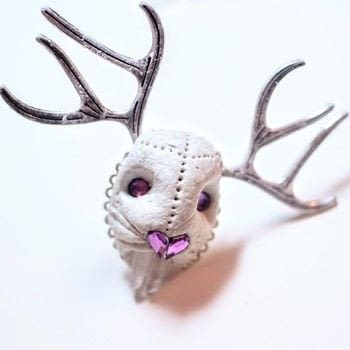 Make a Jackalope ring with antlers and crystal teeth! .  Free tutorial with pictures on how to make an animal ring in under 35 minutes by jewelrymaking and molding with ring base, crystal clay, and marker pen. Inspired by jackalope. How To posted by Cat Morley.  in the Jewelry section Difficulty: 3/5. Cost: Cheap. Steps: 13