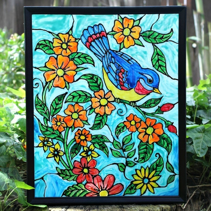 Painting Stained Glass Crafts