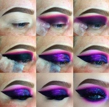 Purple Themed Eye Make-Up Look .  Free tutorial with pictures on how to create a smokey eye in under 45 minutes by applying makeup with eyeshadow. How To posted by Emily Casanova Makeup.  in the Beauty section Difficulty: 3/5. Cost: 3/5. Steps: 9