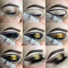 Gold And Black Graphic Liner