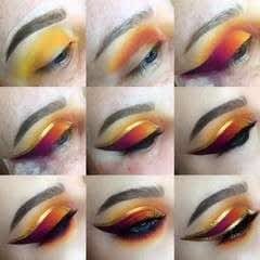 Gold Outlined Ombre Winged Liner