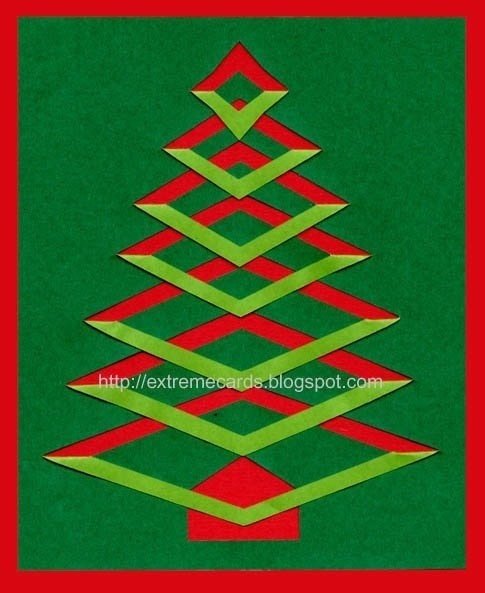 Christmas Tree Made Out Of Paper: Incire Christmas Tree · How To Make A Greetings Card