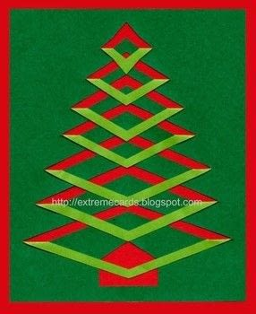 Make a vivid Christmas tree card with a few simple cuts and folds. .  Free tutorial with pictures on how to make a greetings card in under 30 minutes by papercrafting, cardmaking, and paper folding with origami paper, cardstock, and glue. Inspired by christmas and trees. How To posted by Carol .  in the Papercraft section Difficulty: Simple. Cost: Cheap. Steps: 2