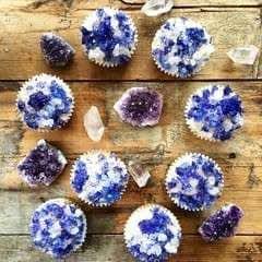 Vanilla Amethyst Cupcakes