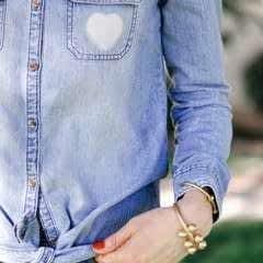 DIY Bleach Heart Pocket Shirt