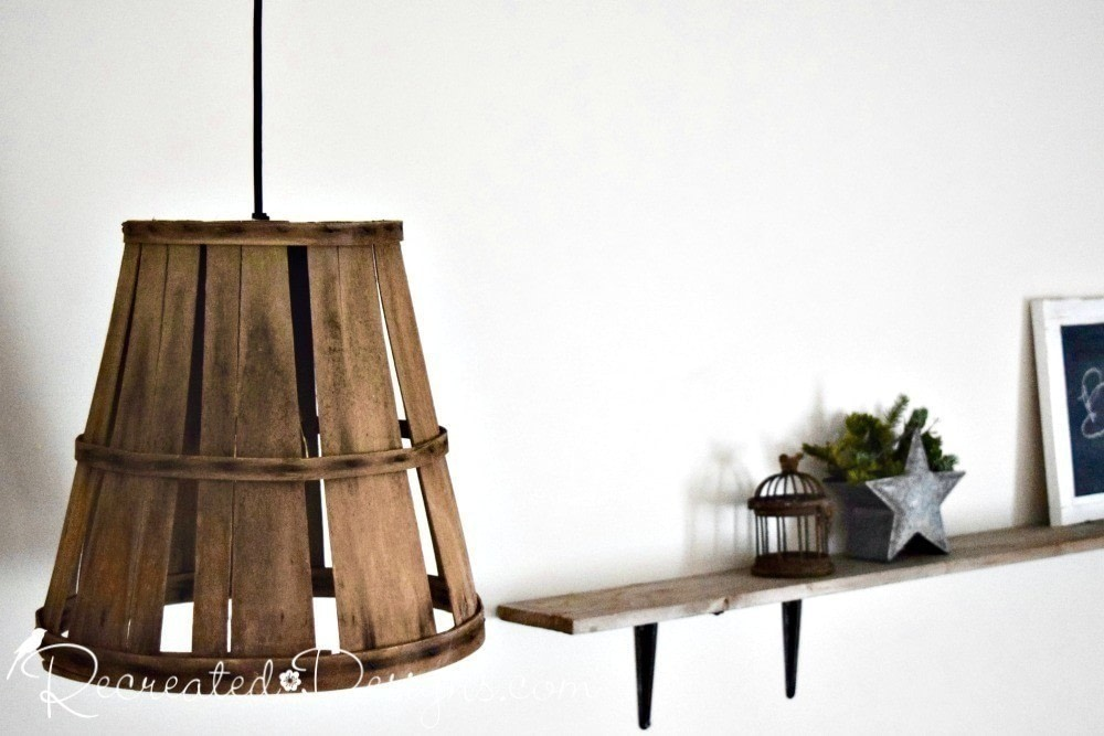 Turn An Old Basket Into A Hanging Lamp How To Make A Hanging Light