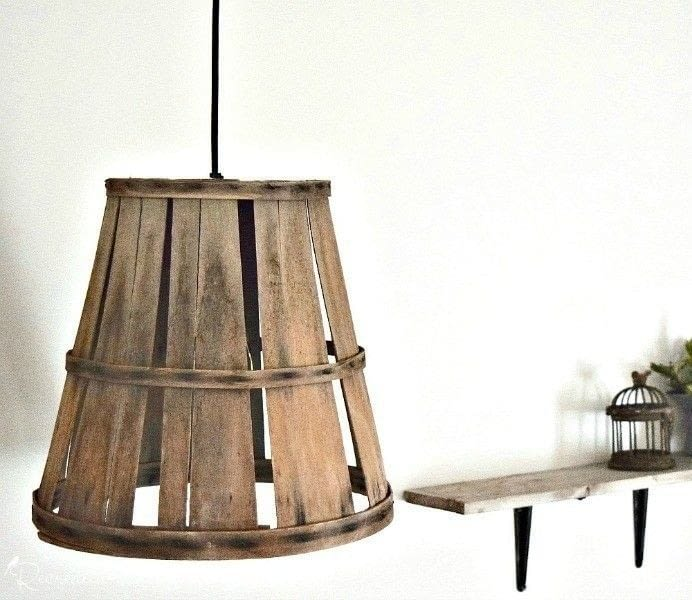 Turn An Old Basket Into A Hanging Lamp · How To Make A