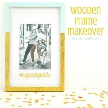 Turn a Clearance Aisle Frame in to a Custom Home Decor Piece! .  Free tutorial with pictures on how to paint a painted photo frame in under 60 minutes using wooden frame, foam brush, and painters tape. How To posted by Kingston Crafts.  in the Home + DIY section Difficulty: Simple. Cost: Cheap. Steps: 4