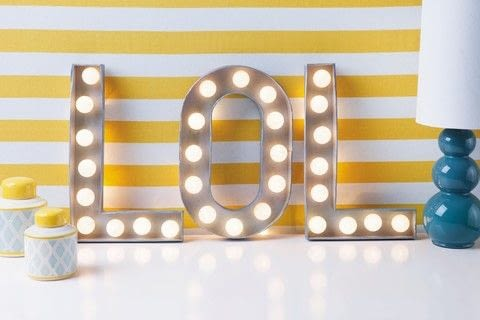 Decorating Letters .  Free tutorial with pictures on how to make a decorative light in under 50 minutes by decorating with chalk, letters, and lights. How To posted by GMC Group.  in the Decorating section Difficulty: Simple. Cost: Cheap. Steps: 4