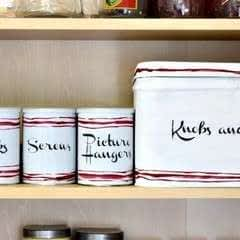 Upcycling Tin Cans Into Vintage Inspired Storage