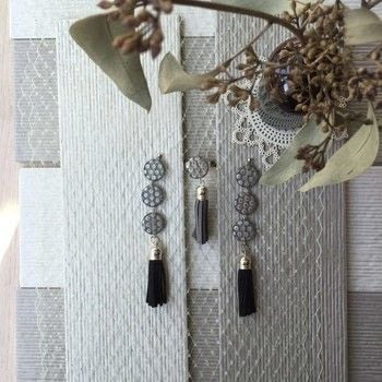 Make some tassel earrings with Makers & Friends .  Free tutorial with pictures on how to make a tassel earring in under 35 minutes by jewelrymaking with round beads, tassel(s), and earring hooks. How To posted by Shop Showcase.  in the Jewelry section Difficulty: Simple. Cost: Cheap. Steps: 5