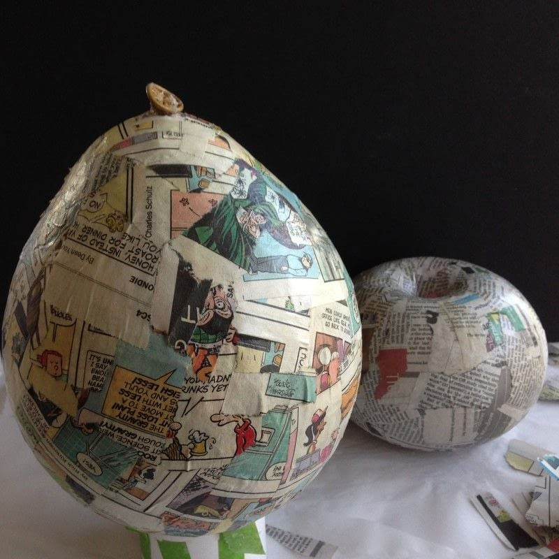Decoupage Napkins On Paper Mache Vases 183 How To Make A