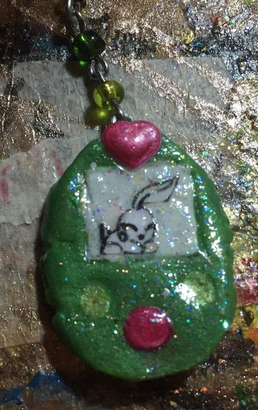 Fake Tamagotchi 183 A Clay Pendant 183 Version By Kinhime Dragon