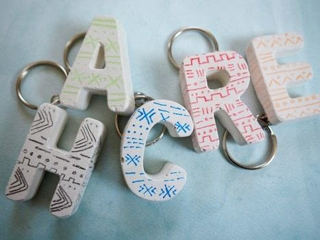 Create these simple keychains that have a fun mud cloth design on them! .  Free tutorial with pictures on how to make a charm / keyring in under 120 minutes using plaster of paris, water, and container. Inspired by clothes & accessories. How To posted by Haley  R.  in the Home + DIY section Difficulty: 3/5. Cost: 3/5. Steps: 3