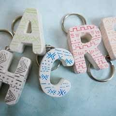 Diy Mud Cloth Inspired Plaster Keychains