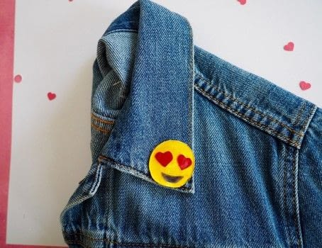 I've only got heart eyes for this DIY! .  Free tutorial with pictures on how to make a pin badge in under 60 minutes using shrinky dink, sharpie, and brooch back. Inspired by hearts, clothes & accessories, and emojis. How To posted by Haley  R.  in the Home + DIY section Difficulty: Easy. Cost: Cheap. Steps: 4
