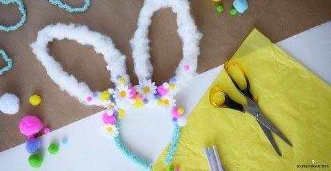 Make an adorable DIY bunny headband in time for Easter .  Free tutorial with pictures on how to make an animal hat in under 30 minutes using hair band, uhu glue, and artifical flowers. Inspired by kids, costumes & cosplay, and flowers. How To posted by steph c.  in the Other section Difficulty: Simple. Cost: Cheap. Steps: 5