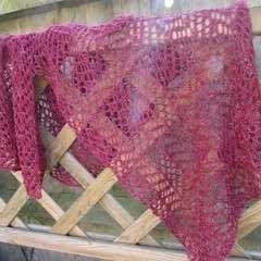 Simple Lace Knit Scarf