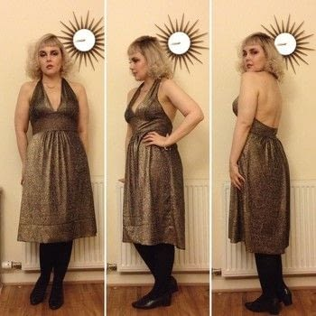For that vintage disco look .  Make a dress in under 120 minutes by sewing with materials and pattern. Inspired by vintage & retro. Creation posted by Markee R.  in the Sewing section Difficulty: Easy. Cost: No cost.