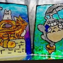 My Neighbor Totoro Stained Glass