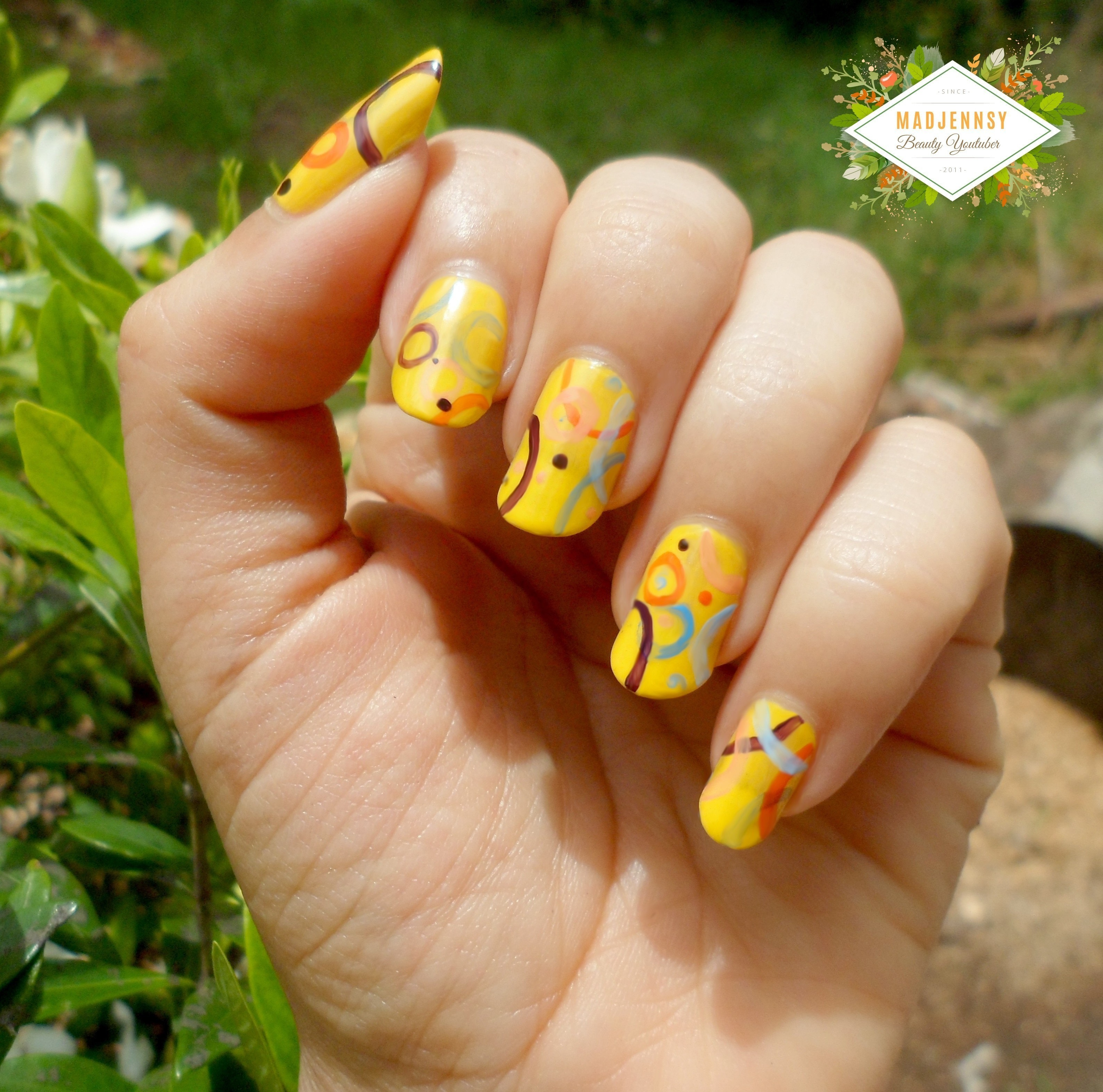 Abstract Artistic Jp Mag Inspired Nail Art How To