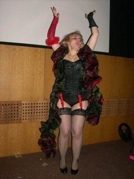 ..from the Rocky Horror Picture Show .  Make an chracter costume in under 180 minutes by sewing with material. Inspired by the rocky horror picture show. Creation posted by Markee R.  in the Sewing section Difficulty: Simple. Cost: No cost.