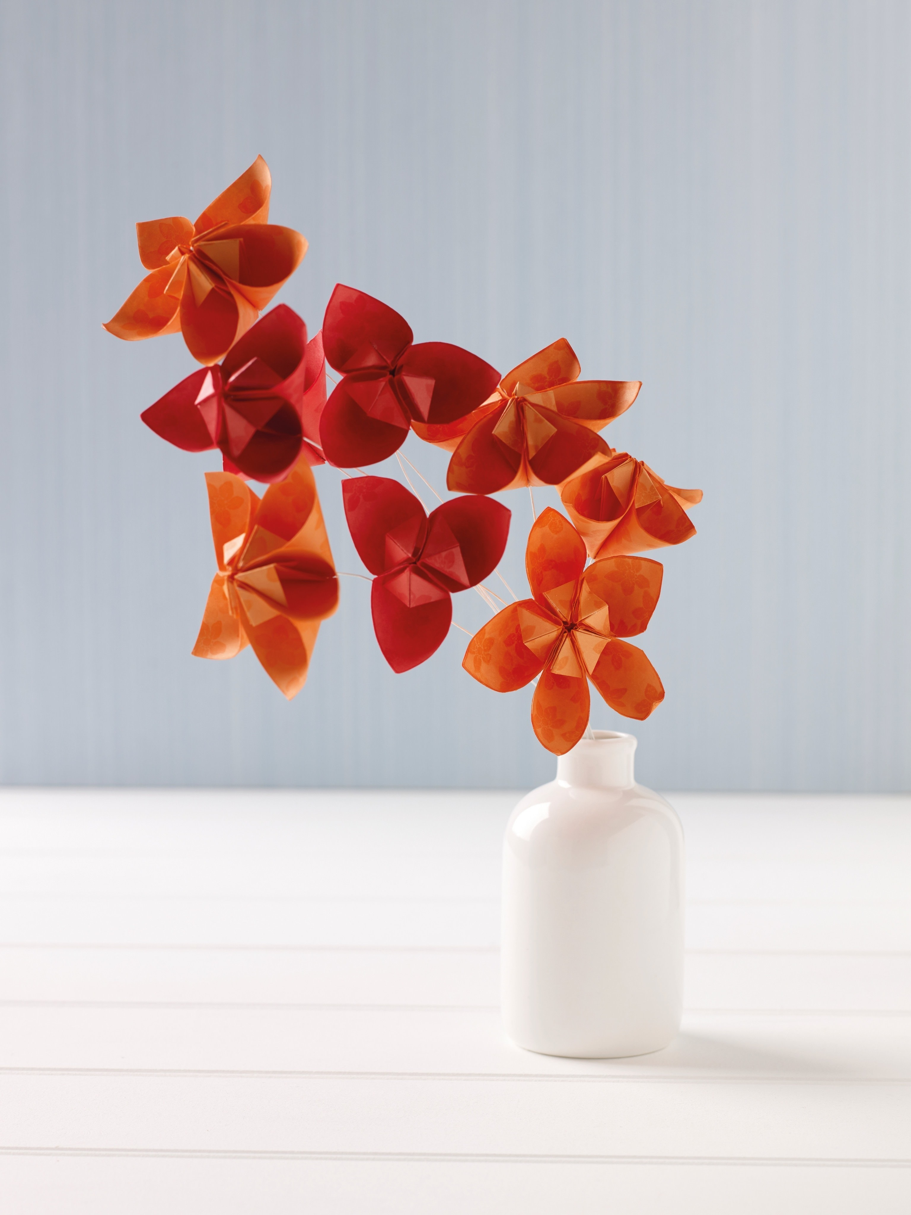 Orchid Arrangement Extract From Paper Folded Flowers By Elizabeth