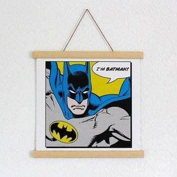 Create this magnetic Poster Hanger for your favorite Posters .  Free tutorial with pictures on how to make a frame / photo holder in under 60 minutes using wooden batten, sand paper, and power drill. Inspired by batman. How To posted by dekotopia.  in the Home + DIY section Difficulty: Simple. Cost: 3/5. Steps: 3