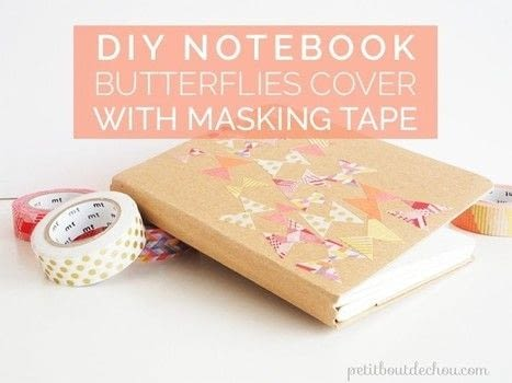 A very easy paper craft DIY .  Free tutorial with pictures on how to make a notebook journal in under 15 minutes by papercrafting with masking tape, notebook, and waxed paper. Inspired by butterflies. How To posted by Estelle C.  in the Papercraft section Difficulty: Easy. Cost: No cost. Steps: 4