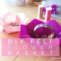 Diy Flower Shaped Felt Basket