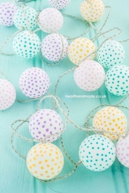 Super Simple DIY Polka Dotty Party Lights! . Free Tutorial With Pictures On  How To ...