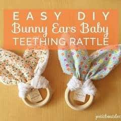 Diy: Bunny Ears Baby Teething Rattle