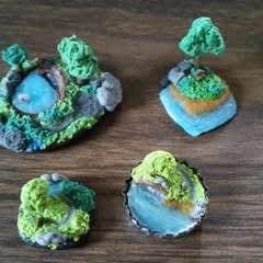 Mini Cold Porcelain Islands