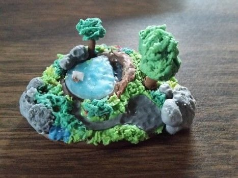 Cold porcelain, clay, island, mini, charms, sculpture, cute .  Mold a clay model in under 120 minutes using sculpting tools, porcelain, and wire. Creation posted by DeadGirl.  in the Art section Difficulty: 3/5. Cost: No cost.
