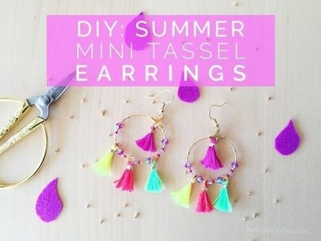 Create these stunning earrings for summer! .  Free tutorial with pictures on how to make a tassel earring in under 30 minutes by beading and jewelrymaking with scissors, thread, and crystals. How To posted by Estelle C.  in the Jewelry section Difficulty: Simple. Cost: Cheap. Steps: 4