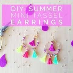 Diy: Summer Mini Tassel Earrings