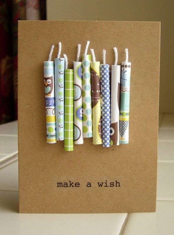 Paper Candle Birthday Card 183 How To Make A 3 D Greetings