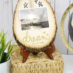 Wood Slice Photo Display